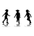 little girl running vector image vector image