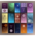 Mandalas business card 4 yoga vector image