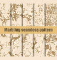 marbling seamless pattern set marbled paper vector image vector image