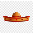 mexican sombrero icon cartoon style vector image vector image