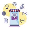 mobile app for email marketing information vector image