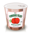 organic peeled tomatoes in can vector image