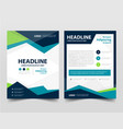 pamphlet leaflet business template layout flyer vector image
