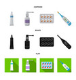 pharmacy and hospital vector image vector image