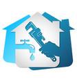 plumbing home repair wrench in hand vector image vector image