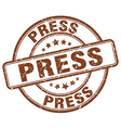 press brown grunge round vintage rubber stamp vector image vector image