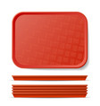 red plastic tray salver classic vector image vector image