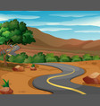 road in the countryside vector image vector image