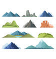 rocky mountains mountain tops outdoor landscape vector image