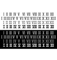 roman numerals collection vector image