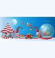 santa claus christmas factory vector image vector image
