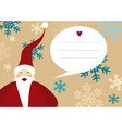 Santa claus merry christmas greeting card snow vector image