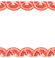seamless decorative border of juicy tomato slice vector image vector image