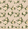seamless pattern with beige roses vector image vector image