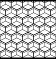 seamless pattern with black line hexagons vector image