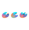set abstract colorful fluid shapes flat round vector image