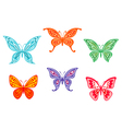 set colorful butterflies vector image vector image