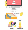 set of company elements vector image vector image