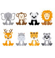 set of cute animals isolated vector image