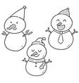 set of snowman vector image