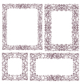 set vintage frame with floral ornament vector image vector image