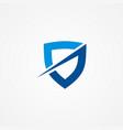 shield company logo vector image vector image