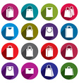 Shopping back icons set shopping theme simplistic vector image vector image
