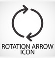 simple rotation arrow line art icon vector image