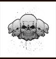 skulls in a row vector image vector image