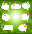 speech bubble big set with sunburst background vector image vector image