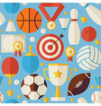 Sport Competition Recreation Flat Blue Seamless vector image vector image