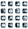 square black high-gloss office buttons vector image vector image