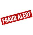 square grunge red fraud alert stamp vector image vector image