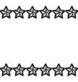 stars frame white background black and white vector image vector image