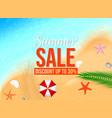 summer design element or sale concept vector image vector image
