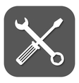 The wrench and screwdriver icon Settings symbol vector image vector image