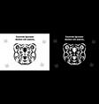 tribal bear set brown bear in tribal vector image vector image