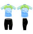 Uniform bike shirt vector image vector image