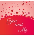 valenties day you and me heart icons vector image vector image