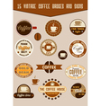 vintage coffee badges vector image vector image