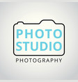white and sky blue icons for photographer on vector image vector image