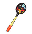 wooden spoon isolated on a white background vector image