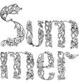 Word Summer vector image