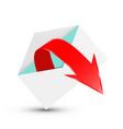 red arrow in open envelope vector image