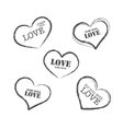 Grunge retro stamp made with love vector image