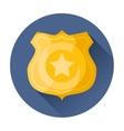police badge icon vector image