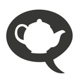 teapot cute isolated icon vector image