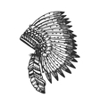 Tribal headband with feathers vector image