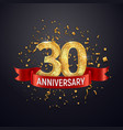 30 years anniversary logo template on dark vector image vector image