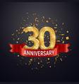 30 years anniversary logo template on dark vector image vector image
